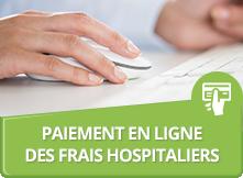 Paiement en ligne des frais hospitaliers
